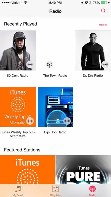 Foto de Nueva app Música en iOS 8.4 (3/17)