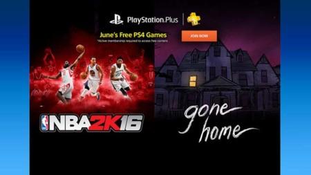 NBA 2K16 y Gone Home entre los juegos gratuitos de PS Plus para junio