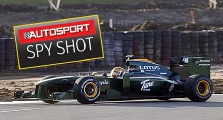 Lotus F1 cazado a tres días de su estreno oficial