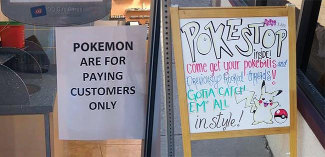 Tiendas que aprovechan la novedad del Pokemon Go