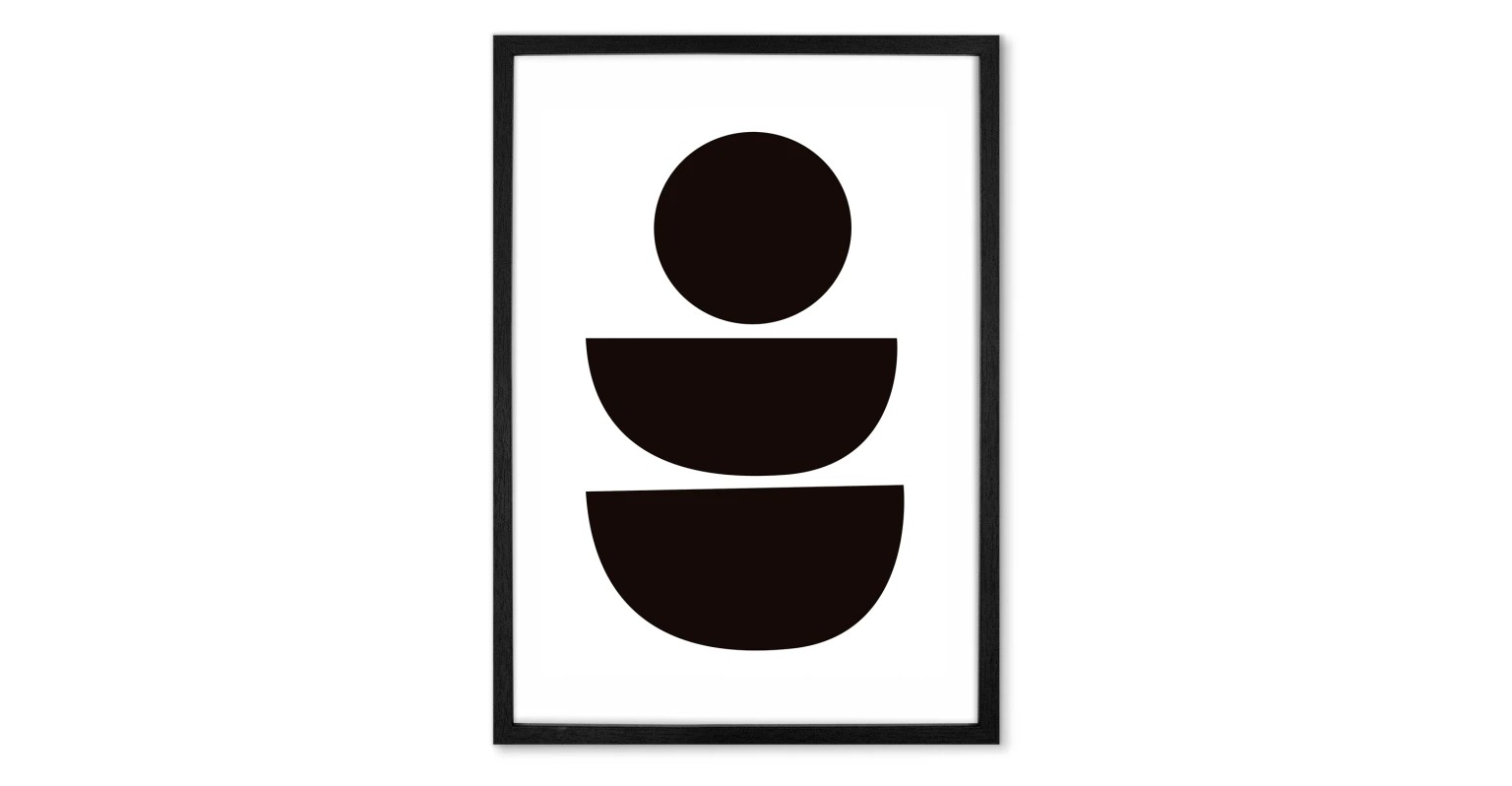 Abstract II  Lámina enmarcada Abstract II, blanco & negro (más tamaños disponibles) 39 € 59 €