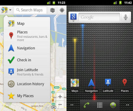 Google Maps con Navigation Beta