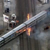 En Chicago está haciendo tanto frío que tienen que incendiar las vías de tren para que puedan seguir funcionando