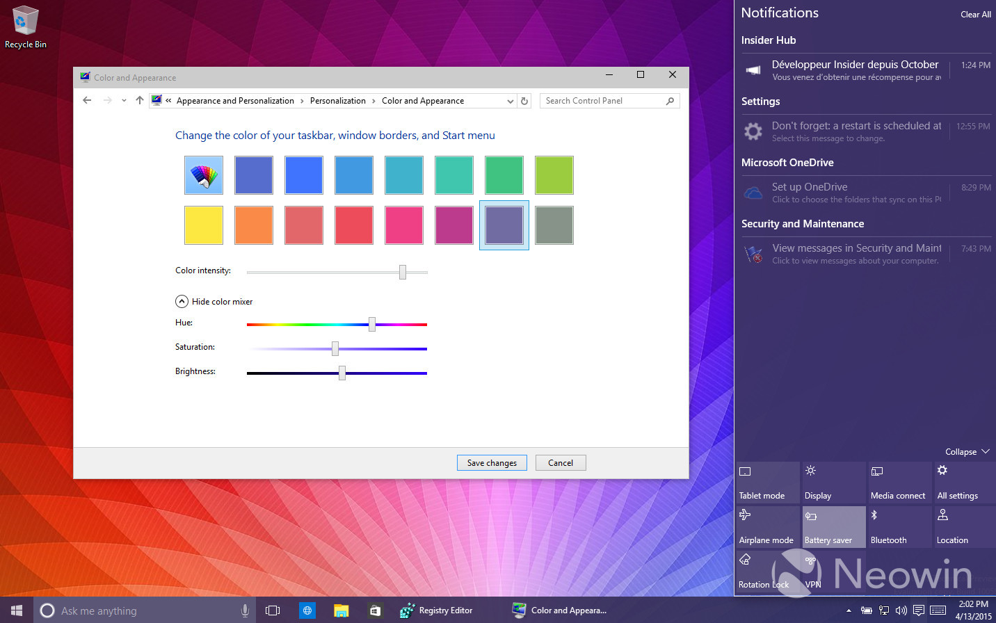 Foto de Temas de colores en Windows 10 build 10056 (15/16)