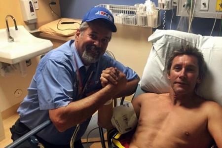 El sueño americano de Troy Bayliss se termina con una pierna rota