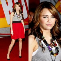 Miley Cyrus sigue buscando ser mayor en la premiere de Bolt