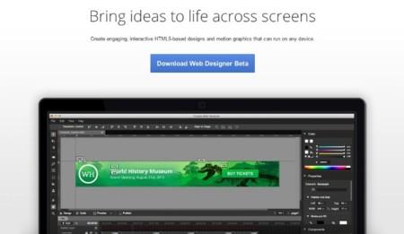 Google lanza Web Designer, su propia aplicación para crear anuncios con HTML5