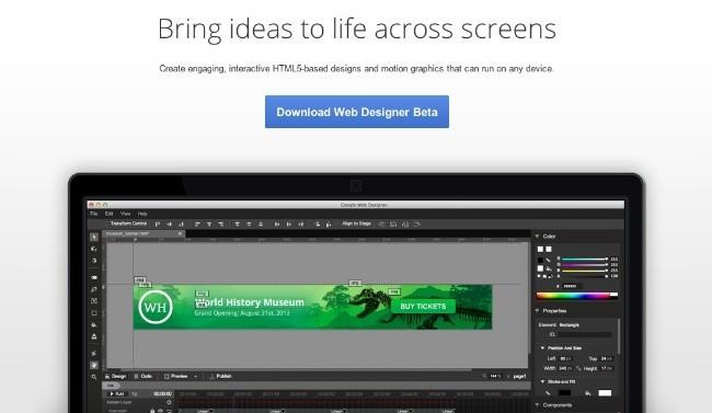google web designer anuncios html5 publicidad