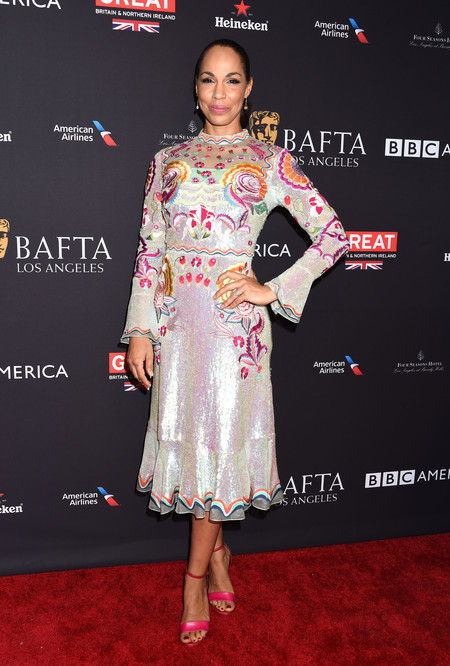 tea party bafta alfombra roja Amanda Brugel
