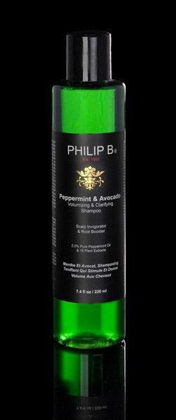 El champu de aguacate y peppermint de Philip B