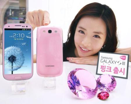 Samsung Galaxy S III de color rosa, edición limitada para el mercado surcoreano