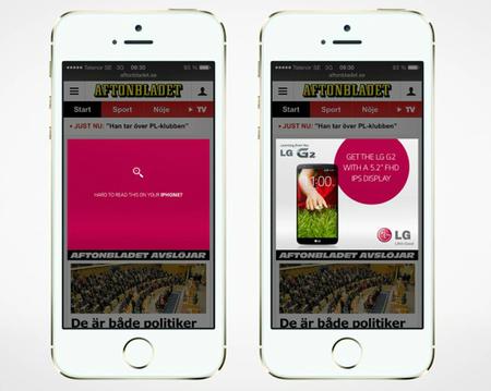 iPhone 5S LG publicidad