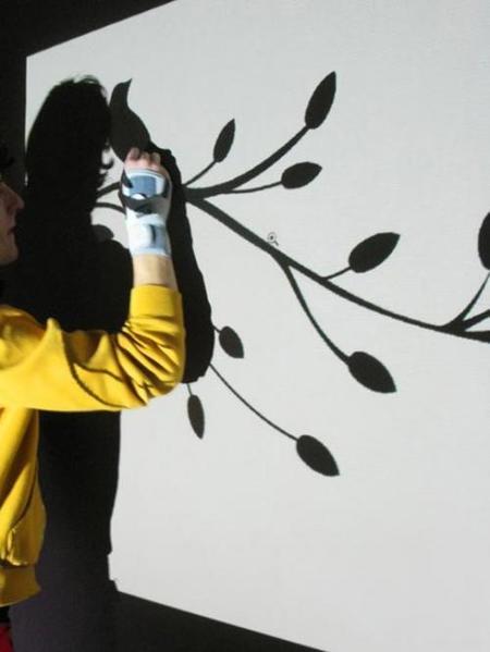 Una buena idea: utiliza un proyector para pintar las paredes
