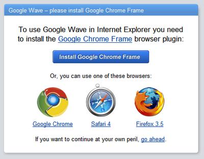 Chrome Frame podría llegar a otros navegadores