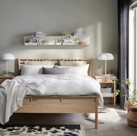 Cama diseño nórdico Ikea