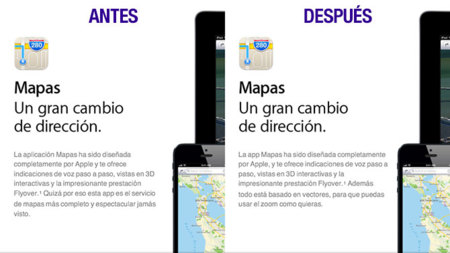 Web de Apple sobre los Mapas de iOS 6