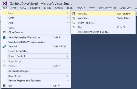 Nuevo proyecto Web API
