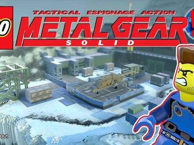Un usuario de LEGO Worlds quiere recrear todos los escenarios de Metal Gear Solid