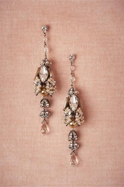 pendientes de cristal y perlas