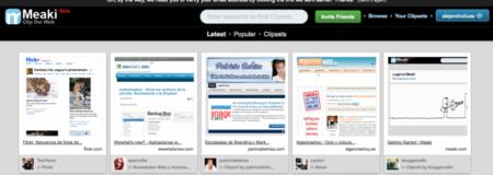 Al estilo Pinterest, Meaki clasifica tus sitios web favoritos