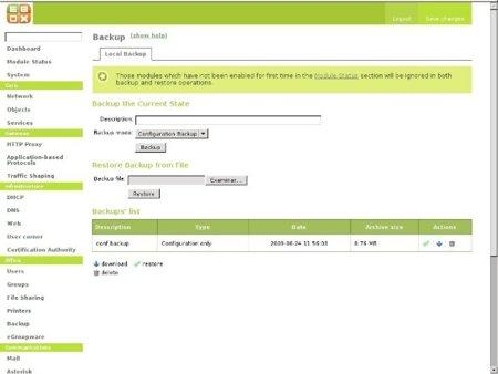 Backup con eBox
