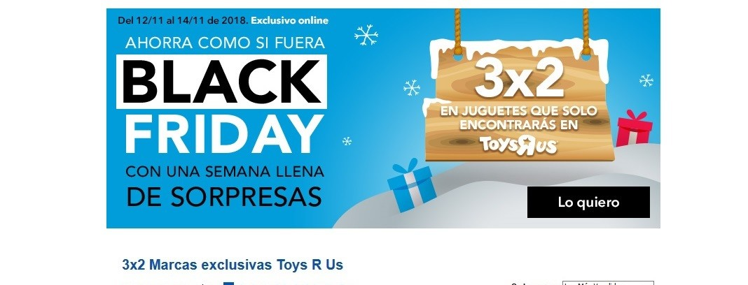 Marcas Sus Promoción Exclusivas 'r Black Us3x2 Friday Pre En Toys pqUGzLSMV