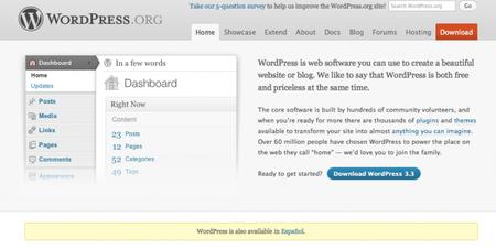 Y venga más novedades: ahora Wordpress 3.3