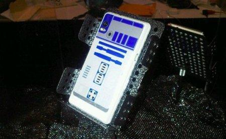 Motorola Droid 2 con carcasa de R2-D2