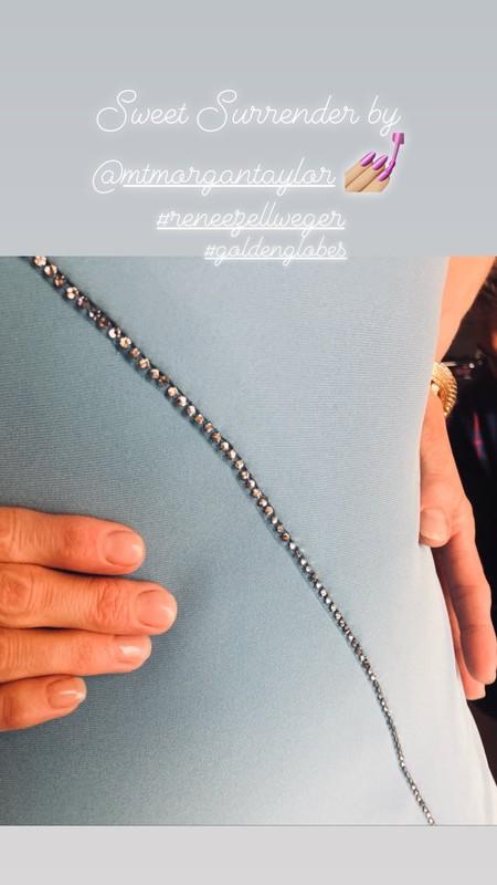 Renée Zellweger manicura globos de oro