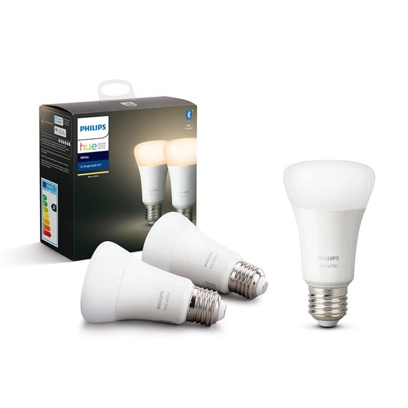 Philips Hue White Pack 3 Bombillas Inteligentes LED 9W E27 Blanco Cálido