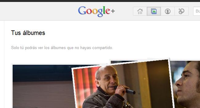 Álbumes en Google+