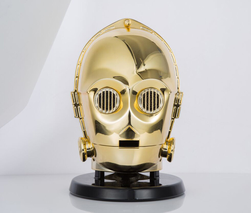 Star Wars Audio System Gold Plated C3po Stormtrooper Heads 04