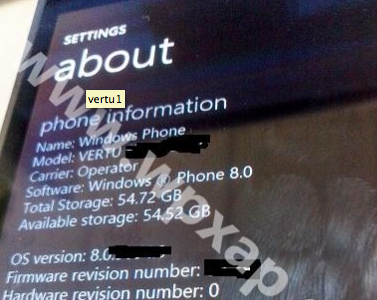 Primeras imágenes de un supuesto prototipo de Vertu equipado con Windows Phone 8