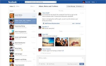 Facebook sigue con sus rediseños: ahora le toca a los mensajes privados