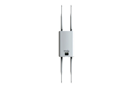 Este punto de acceso cuenta con cuatro antenas para ampliar la cobertura de la red Wi-Fi de casa incluso en exteriores