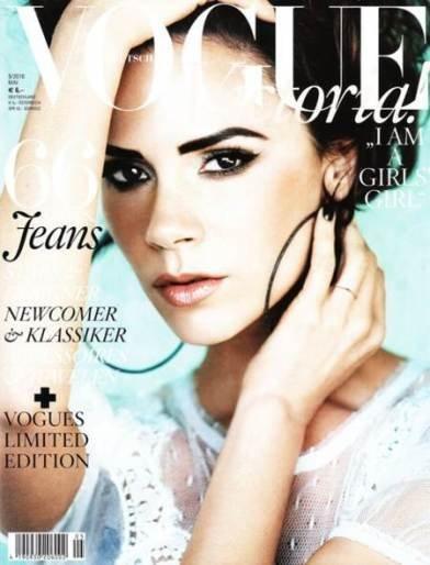 Victoria Beckham en la portada de Vogue Alemania, Mayo 2010