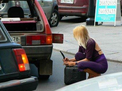 Repostando combustible en Rusia