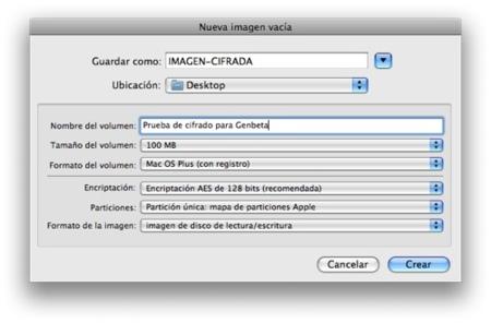 Cifrado Mac OS X