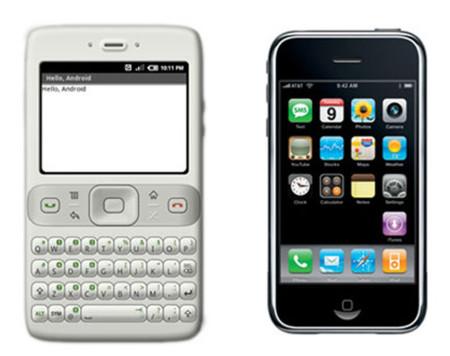 Antes de aparecer el iPhone, en Android pasaban de pantallas táctiles