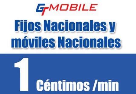 GT Mobile sustituye su tarifa nacional por 1 céntimo/minuto a todos