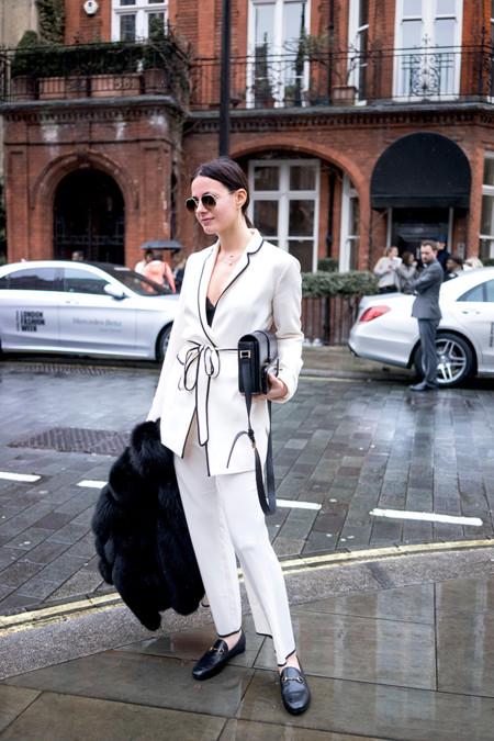 Blazer Pijama Zara Blanca 3