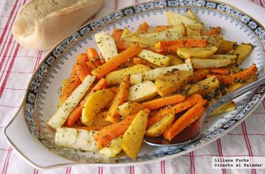 Guarnición de hortalizas asadas provenzales. Receta
