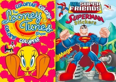 Nuevos libros de actividades para niños con Superman, Batman, Piolín y Bugs Bunny