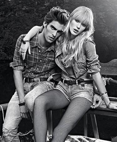 Anne V. y Jon Kortajarena en la campaña Pepe Jeans Primavera-Verano 2011