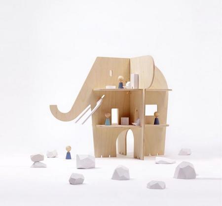 La divertida y original casa de muñecas Ele Villa con forma de elefante