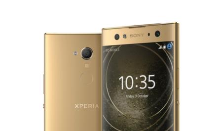 El Sony Xperia XA2 Ultra, en dorado y con el lector de huellas trasero