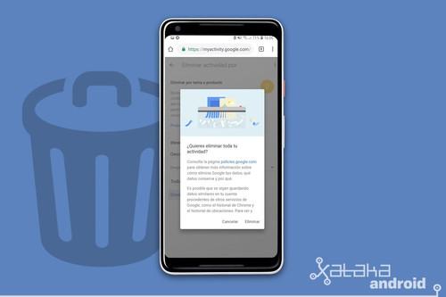 Cómo borrar el historial de búsqueda de Google desde un móvil Android