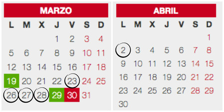 Calendario Escolar 2017 18 Vs Calendario Laboral Festivos Y Puentes