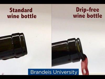 Con esta botella ya no goteará el vino