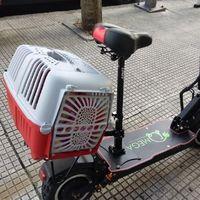 Cazan a un hombre viajando con su perro en un patinete eléctrico trucado capaz de ir a 100 km/h